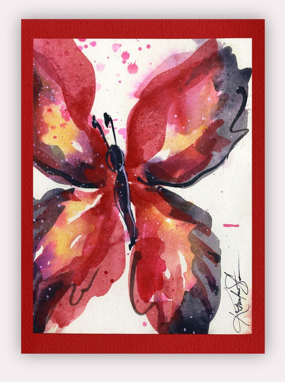 Butterfly Watercolor Painting - Butterfly Delight No. 11 - Image 0