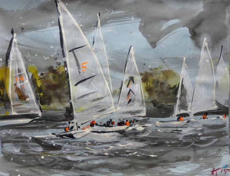 sailing, 65x50 cm - Image 0