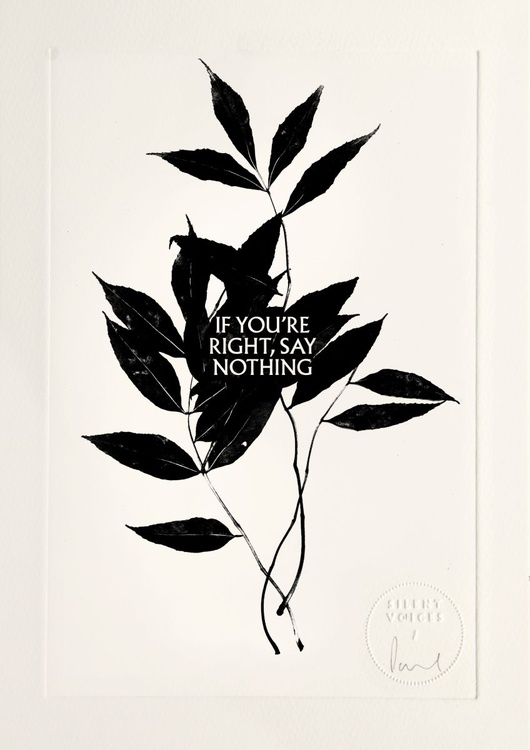 If You're Right, Say Nothing - Image 0