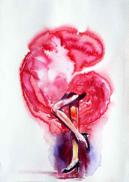 Dance with me I / Series of ink painting on paper -