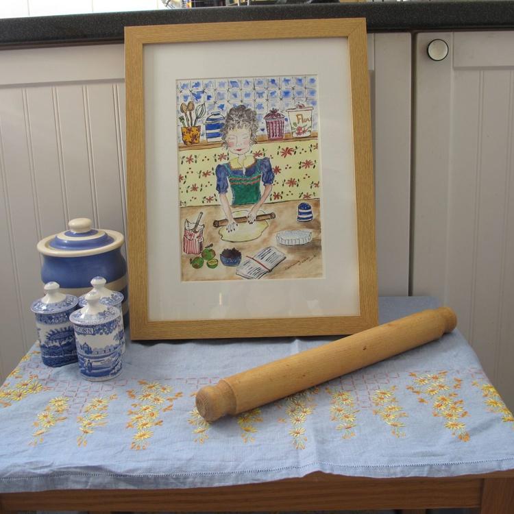 Lets Bake (framed Watercolour) - Image 0