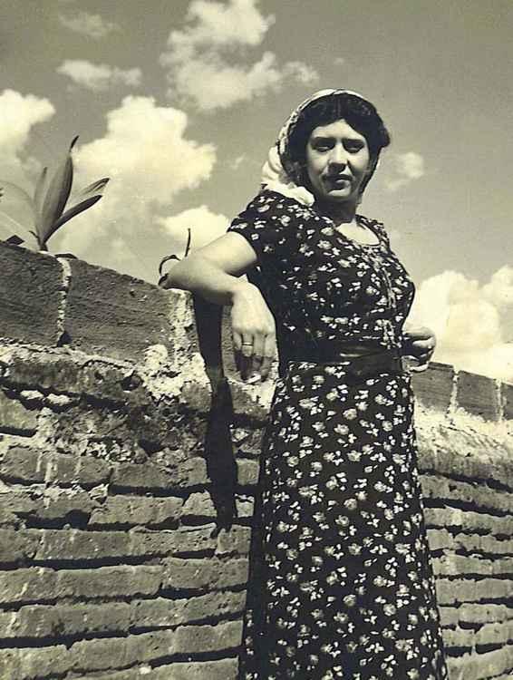 Celia Against Brick Wall, c. 1953 • Samuel Gutierrez, Foto Estudio Paris, Jalisco, Mexico • Ltd Edit Silver Rag Print