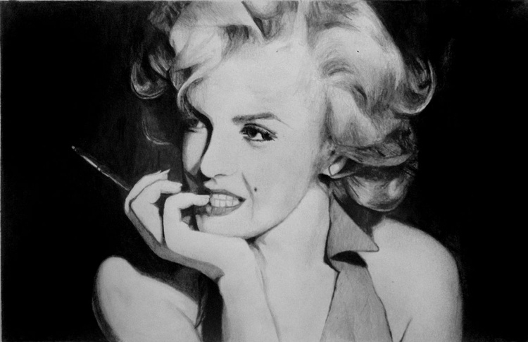 Marilyn Monroe  - Graphite Pencil Drawing - Image 0