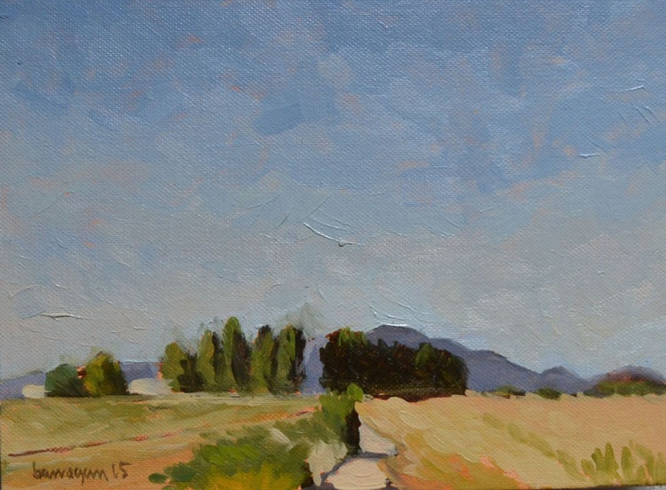Around the Villa n. 5 in Plein Air Italy Landscape Painting - Image 0