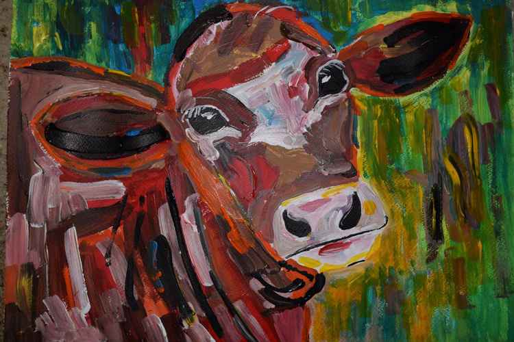 Memory of farm life - Daisy our cow -