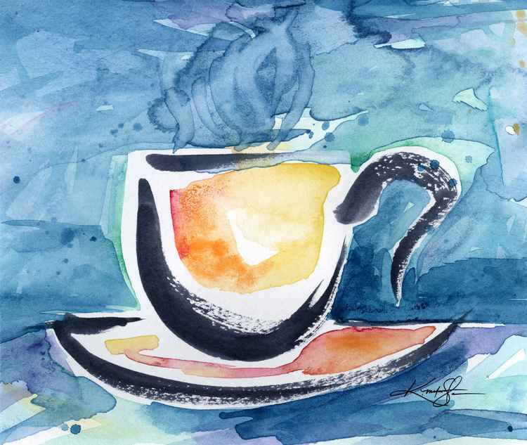 Coffee Dreams No 17 - Original Watercolor -