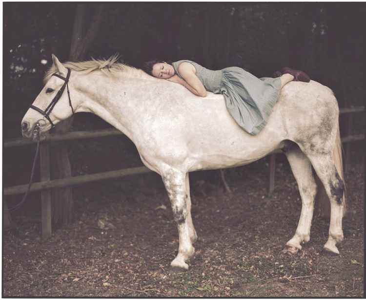 Emily and the White Horse (Small size) -