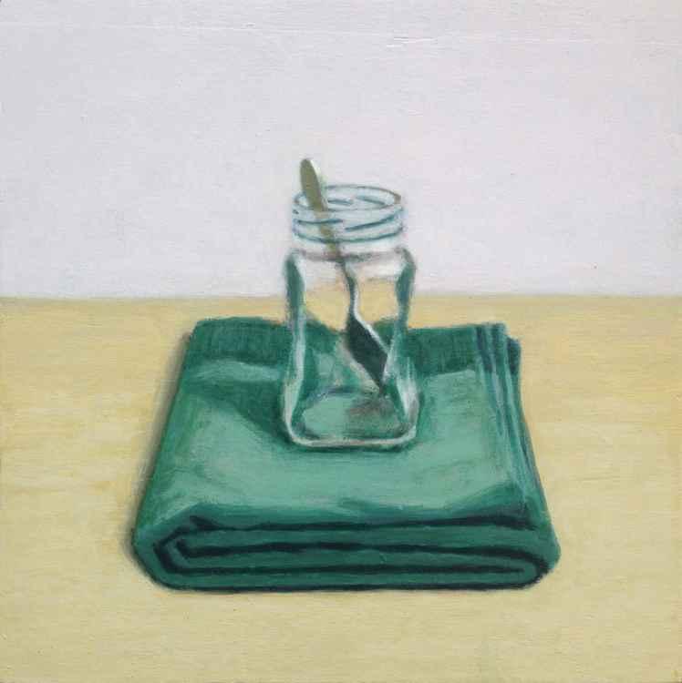 Coffee jar and spoon