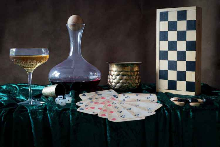 Gambling Still Life just like the dutch masters -