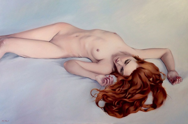 Nude in red - Image 0
