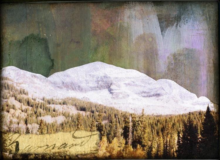 Mountains V, Mixed Media Miniature Art - Image 0