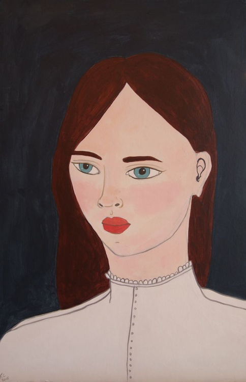 Portrait in a White Blouse - Image 0