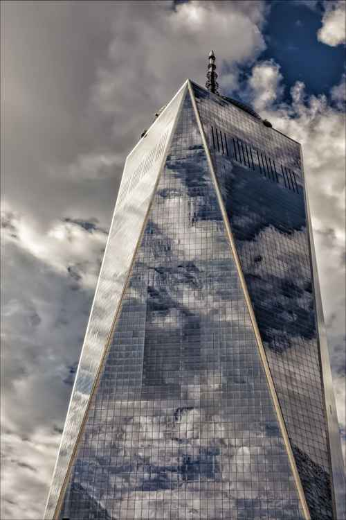 World Trade Center and Clouds -