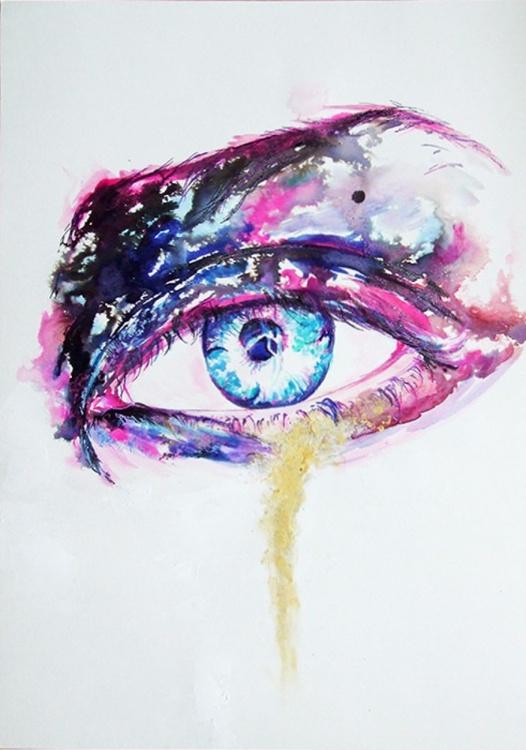 Golden Eye  / Watercolour - Image 0