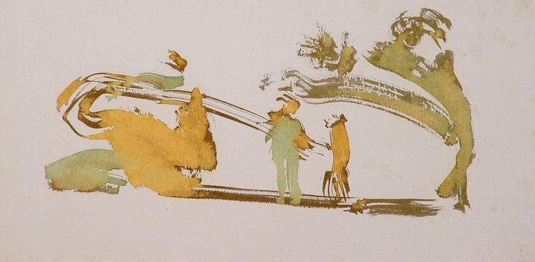 On the Cezanne Island #14, 40x20 cm - Image 0