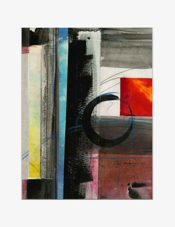 Enso Abstract Zen Painting - Being Within Series.. Enso . No.2 -