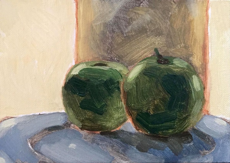 Two Green Apples - Image 0
