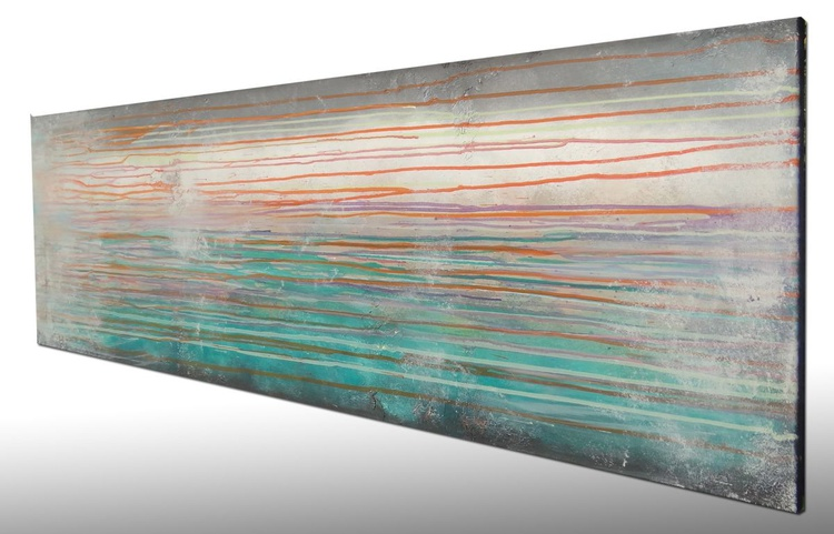 raw color stripes (150 x 50 cm) - Image 0
