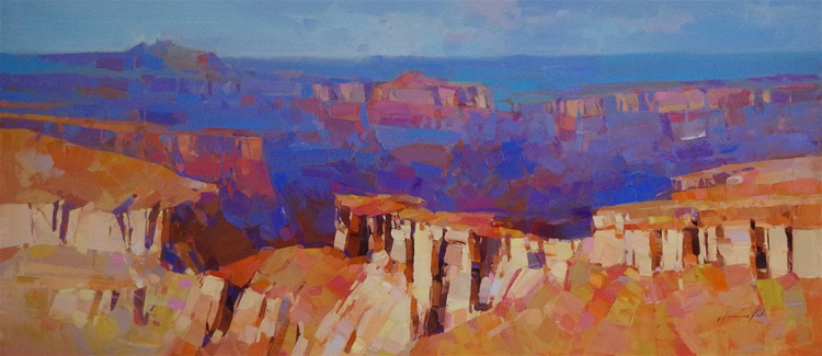 Grand Canyon - Arizona, Landscape oil painting, Large Size, Ready to hang, One of a kind, Signed, Hand Painted - Image 0