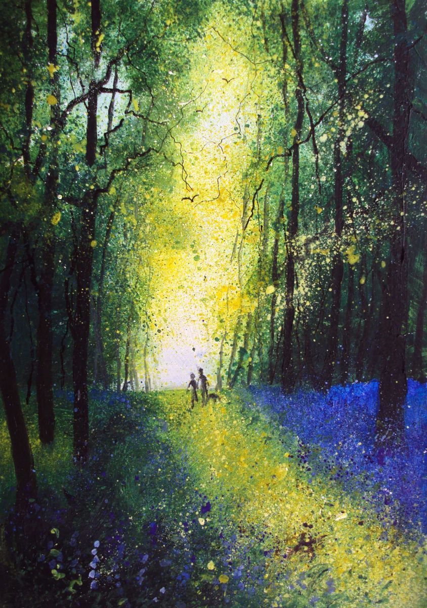 Spring woodland bluebells (2016) Oil painting by Teresa ...