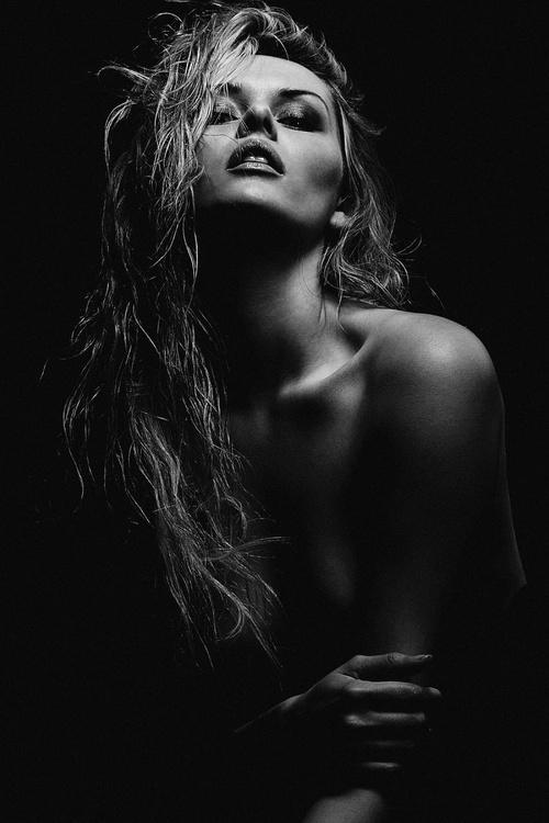 "Carla Monaco ""Dark"", A2 ** One off, single print limited edition of one ** - Image 0"