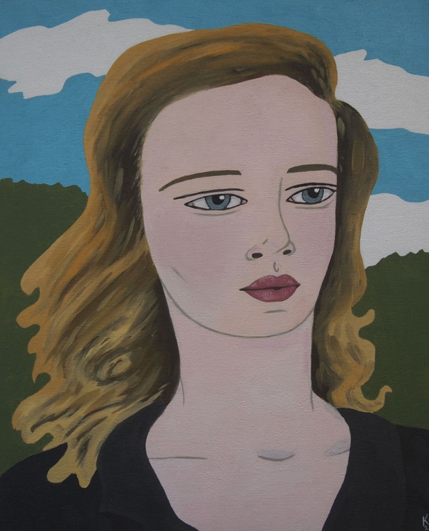 Blonde Portrait with Clouds - Image 0