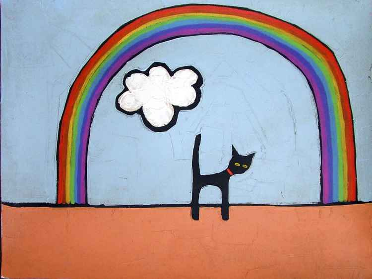 CAT AND RAINBOW