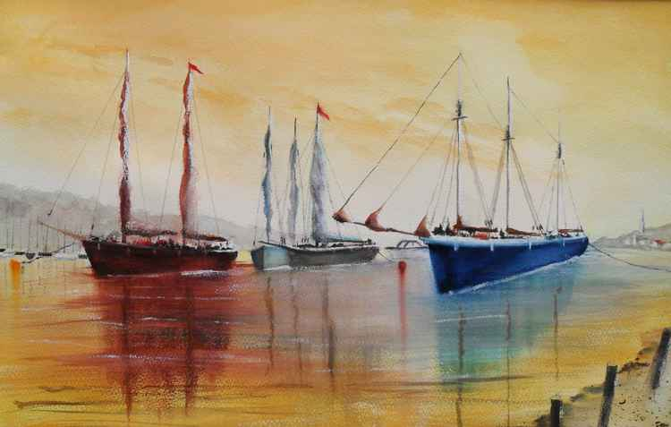 """Colourful Sailing Ships"""