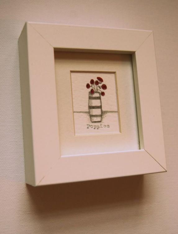 Framed Poppies III (miniature).. - Image 0