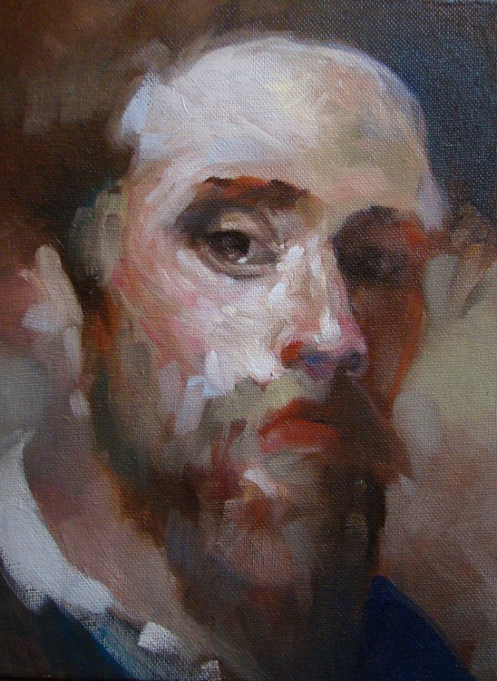Young Bearded Man- Study - Image 0
