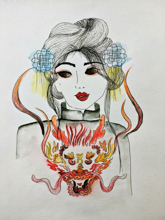 Dragon Spirit. Fashion Illustration (2016) - Image 0