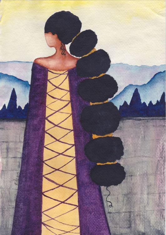 'Queen' Original Watercolor Art - Image 0