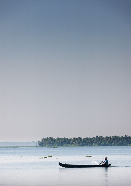 Fisherman, Kerala Backwaters. (84x119cm) - Image 0