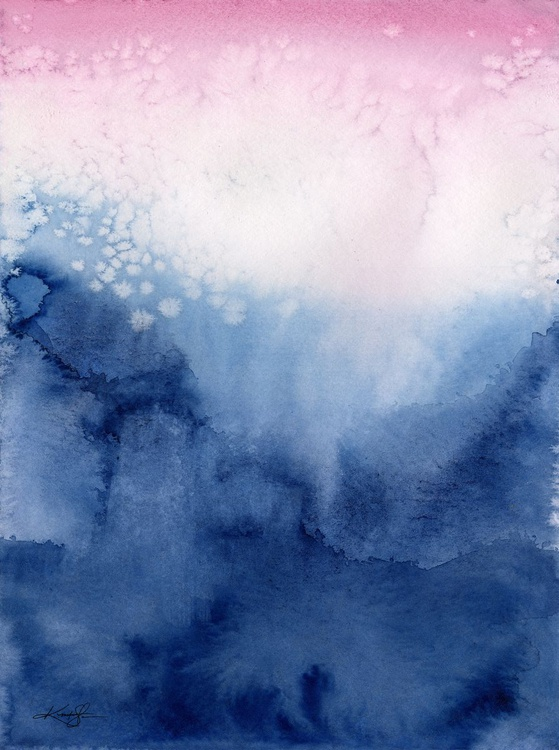 Serene Moments 22 - Abstract Watercolor Painting - Image 0