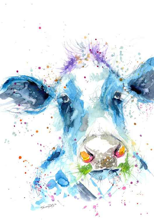 'Stan' Original Cow Watercolour painting