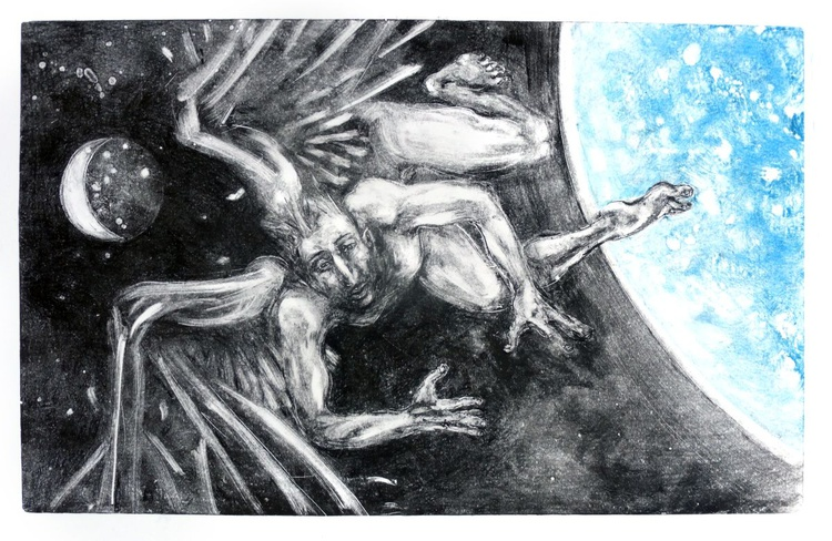 Angel,Planet,Moon -falling 1 - Image 0