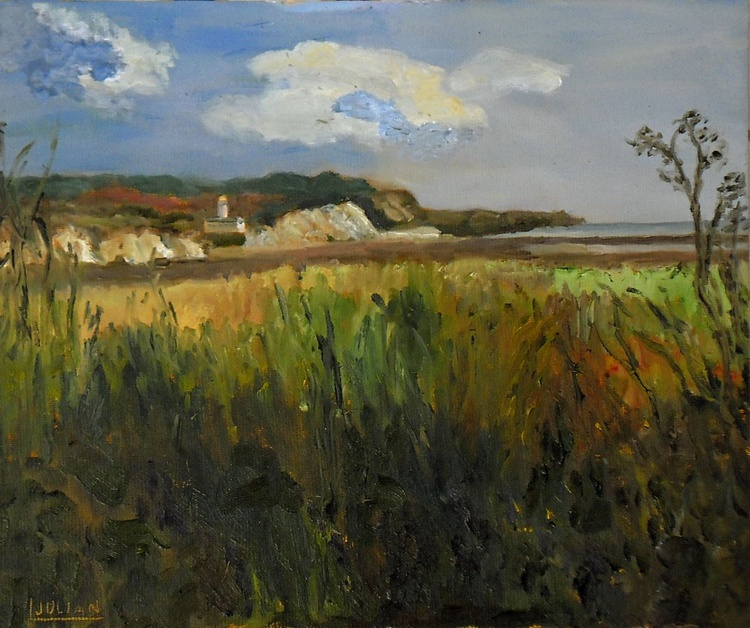 "Pegwell Bay, Near Ramsgate is an original oil painting on board! Size 12"" x 10"" Lovely Gift! - Image 0"