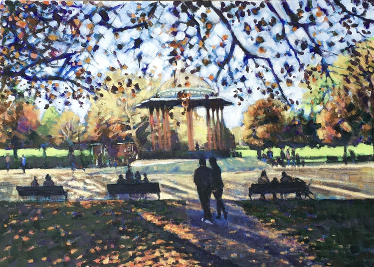 Autumn at the bandstand, Clapham Common - Image 0