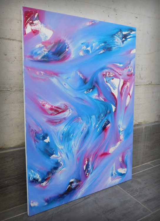 Scent - 50x70 cm, Original abstract painting, oil on canvas - Image 0