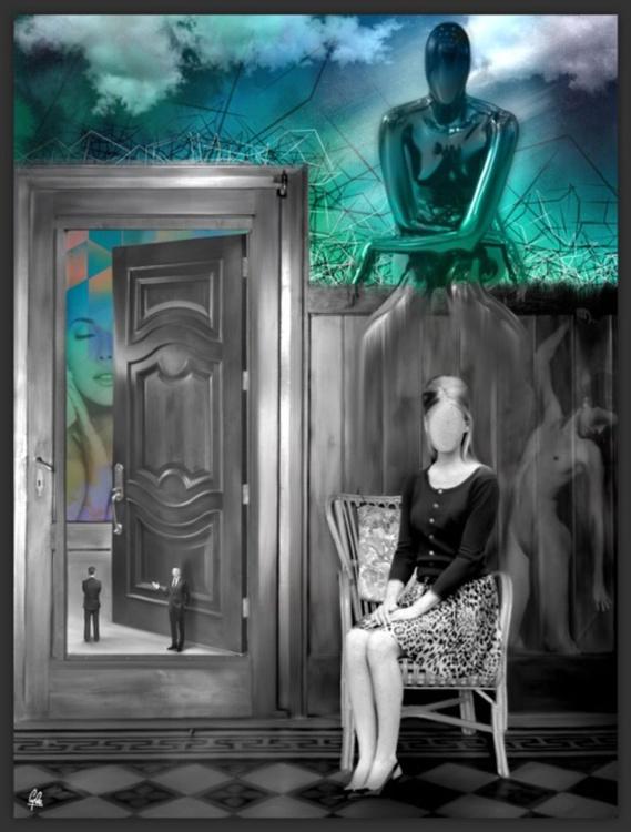 THE ETERNAL BEAUTY | Digital Painting printed on Alu-Dibond with Black wood frame | Unique Artwork | 2015 | Simone Morana Cyla | 33.8 x 45 cm | Art Gallery Quality - Image 0