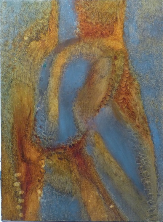 Metafigure #59, oil on canvas 81x60 cm, ready to hang - Image 0