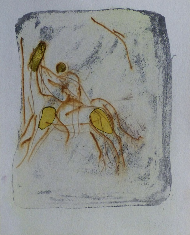 Sketch of a Rider, 24x30 cm - Image 0