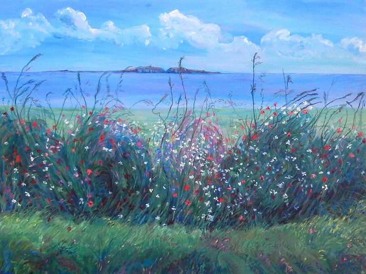 Wild Flowers And The May Island, Version Three' - Image 0