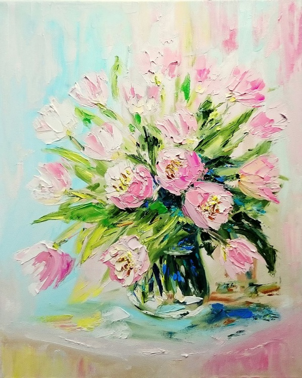 Bouquet of light pink tulips - Image 0