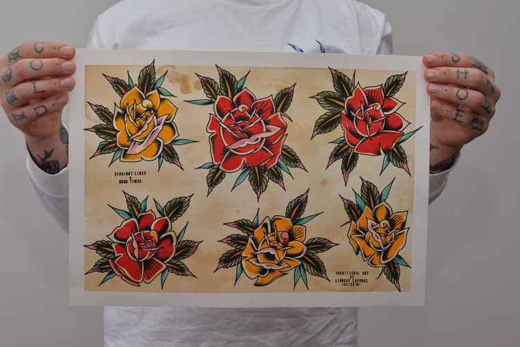Rose Flash Sheet 29.7cm x 42.0cm