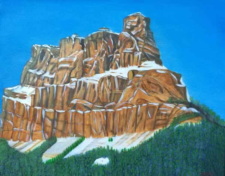 CASTLE MOUNTAIN SNOW CAPPED