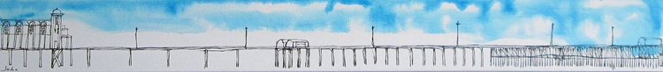 """The Long, Long, Long, Long, Pier... 36"""" by 4"""" chunky canvas - Image 0"""
