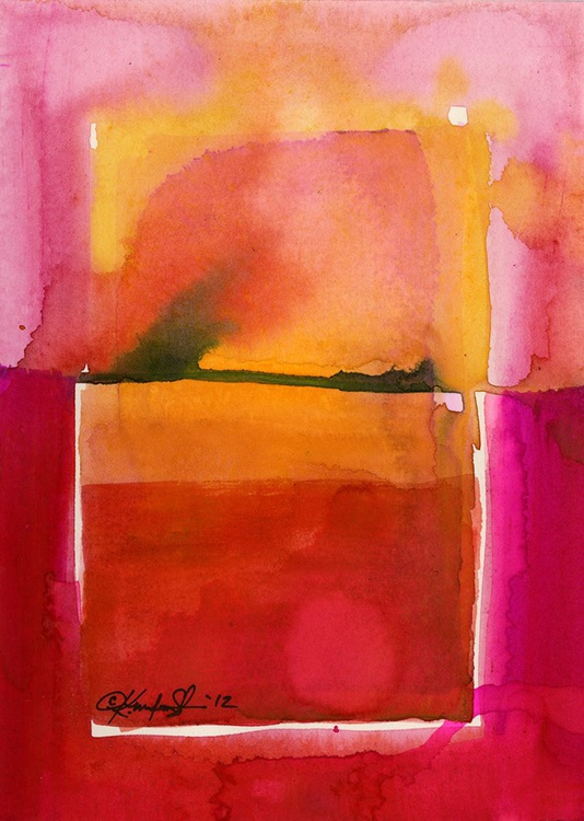 Watercolor Abstraction No. 208 - Image 0