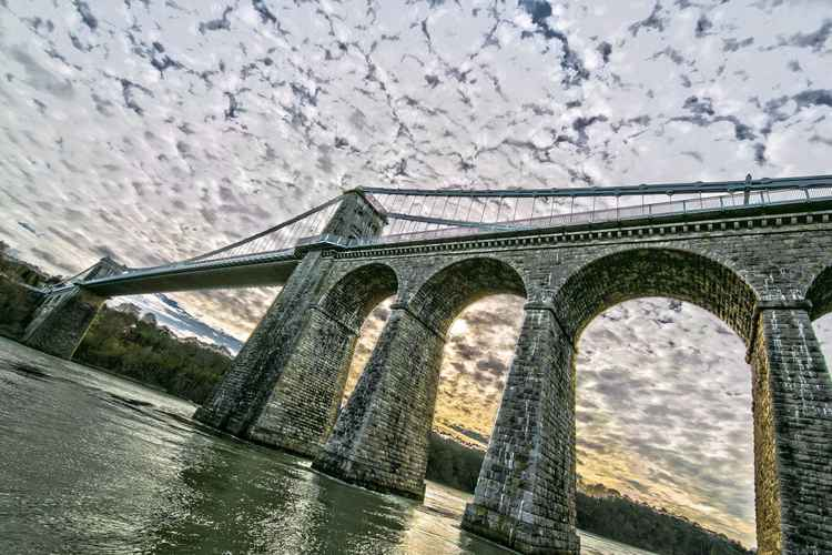 Menai Bridge Anglesey North Wales -