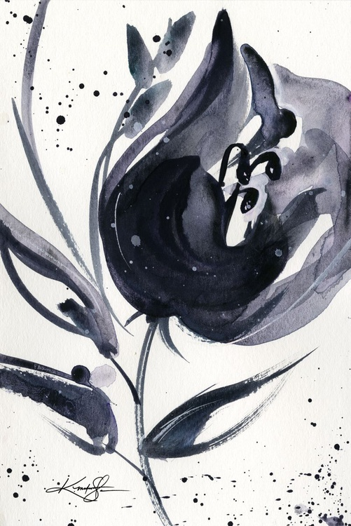 Bloom Dance No. 66 - Abstract Floral Watercolor by Kathy morton Stanion - Image 0